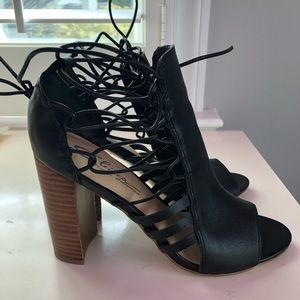 Sbicca Lace Up Stacked Heels